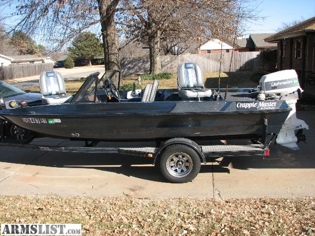 Armslist for sale crappie master fishing boat for Crappie fishing boats