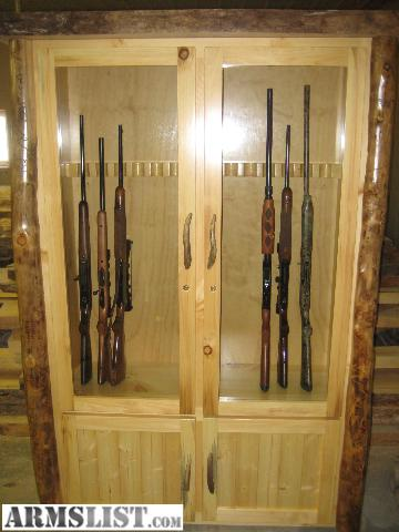 Armslist For Sale New Rustic Log Gun Cabinet Solid