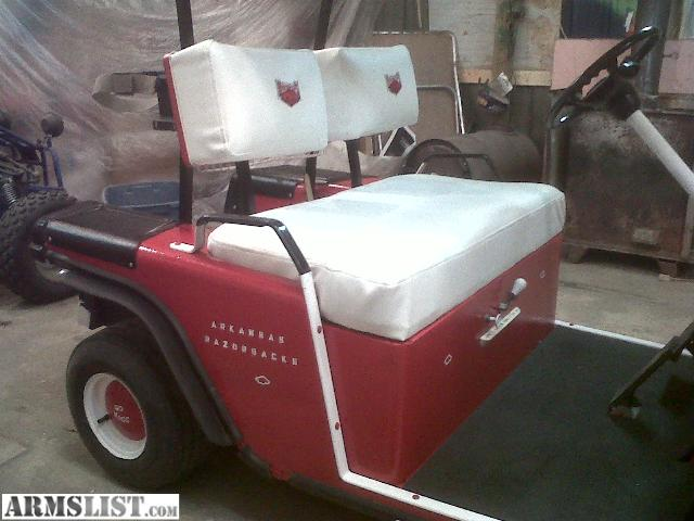 I Have A 1984 EZ GO Gas Golf Cart Razorbacks All New Paint Seats Back Rest Tires Very Nice 2 Cycle Motor Runs Guns Good 1250 Frim Maybe Will Take Old