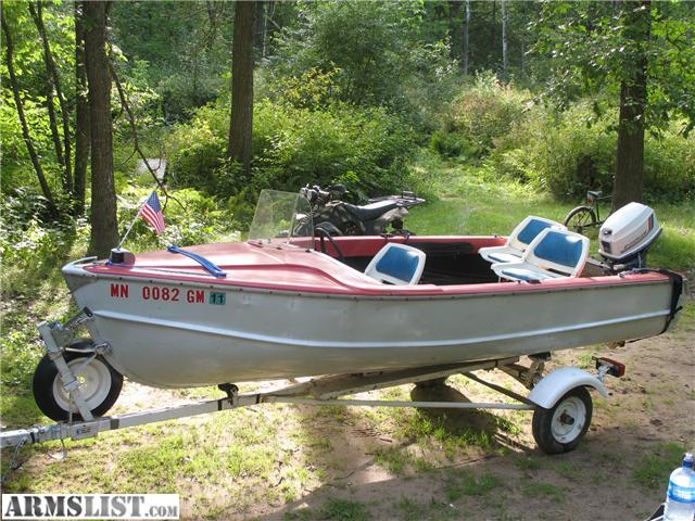 14 Foot Aluminum Runabout With 25 Hp Evinrude And Roller Trailer NO LEAKS All Solid Comes Minn Kota 65 28 Lb Thrust W 5 Speeds Elec Trolling Motor