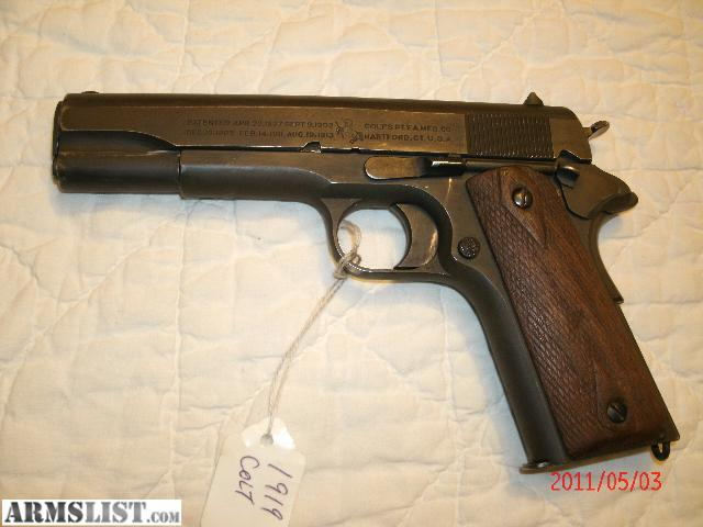 ARMSLIST - For Sale: Colt Model 1911 Military .45