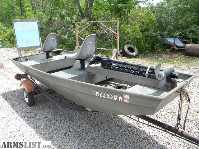 Armslist for sale 12 39 polar kraft jon boat with trailer for Fishing equipment for sale on craigslist