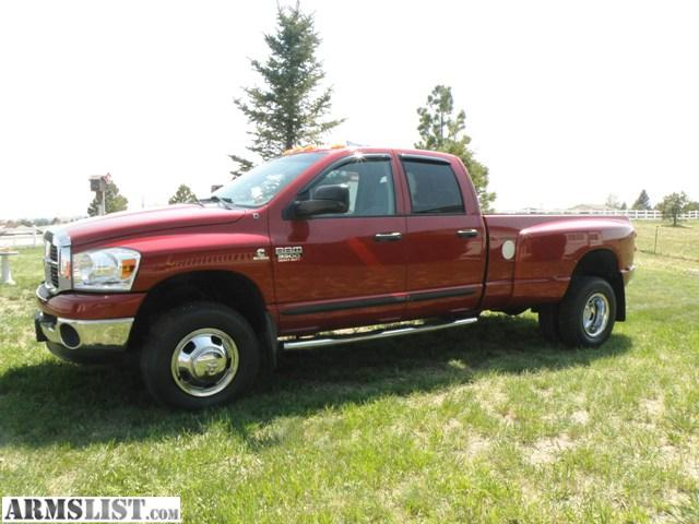 armslist for sale 2007 dodge ram 3500 dually 4x4 diesel. Black Bedroom Furniture Sets. Home Design Ideas