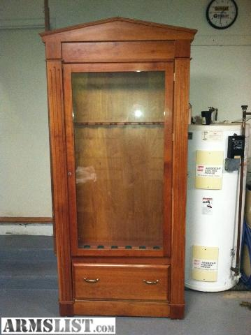 armslist - for sale: cherry wood gun cabinet