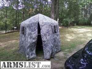 six foot wide hexagon tent blind. made in Ubly Mi by Luckyu0027s. camo pattern is super flauge by Lynch. in good condition minus 2 of the windows netting has ... & ARMSLIST - For Sale/Trade: Luckyu0027s hunting blind