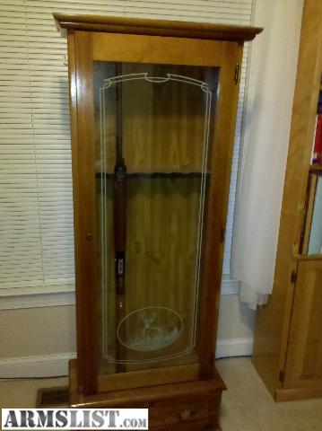 gun cabinets for sale armslist for wooden gun cabinet with glass door 16129