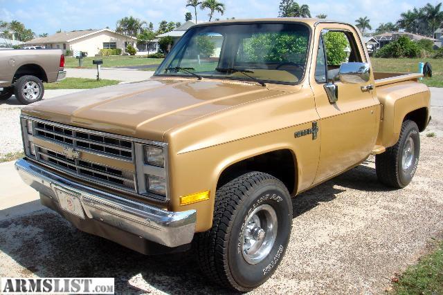 armslist for sale 1984 chevrolet pickup 1500 k10 stepside 4x4 restored. Black Bedroom Furniture Sets. Home Design Ideas