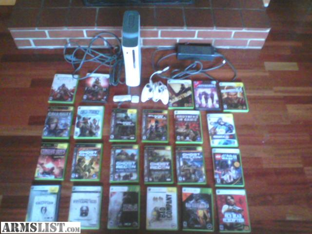 ARMSLIST - For Sale/Trade: Xbox 360+ games for sale/trade for guns