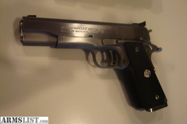 Armslist For Sale Colt Gold Cup Mkiv Series 80 National