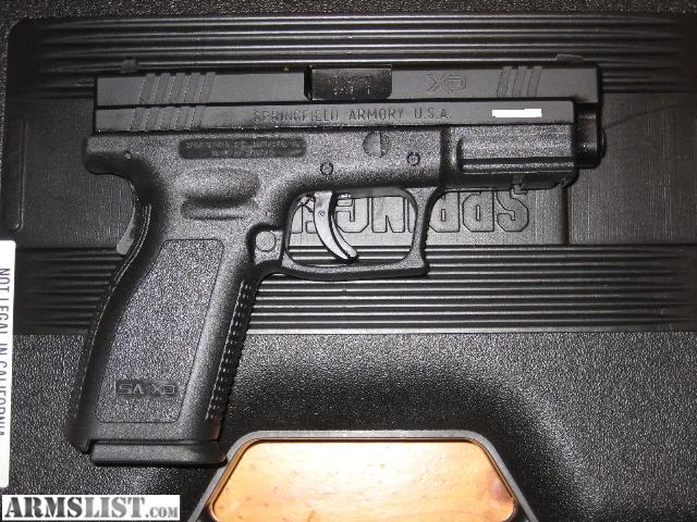 """ARMSLIST - For Sale: Springfield XD9 9mm 4"""" Service model"""