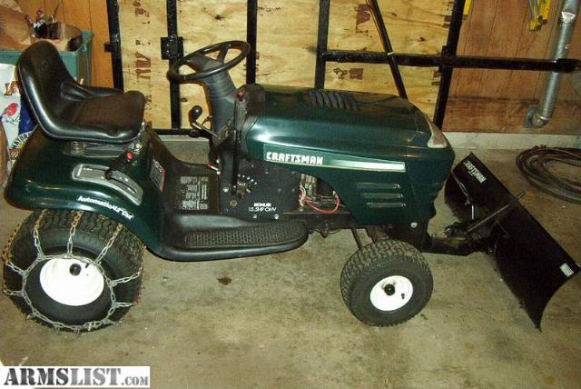 Craftsman Garden Tractor Plows For Garden Equipment : Armslist for sale trade craftsman lawn tractor w