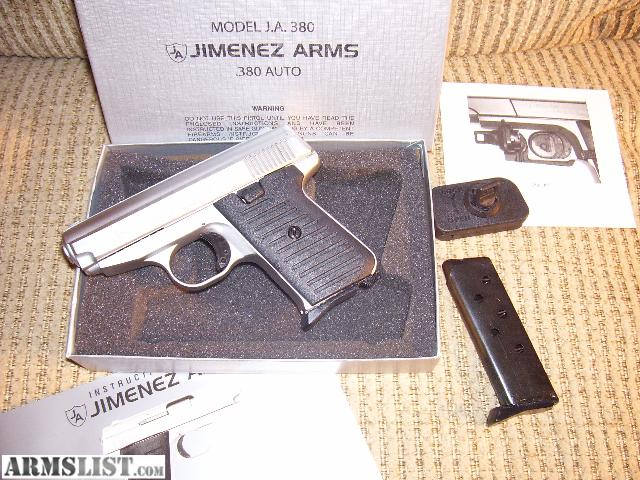 Jimenez Arms ja 380 Manual