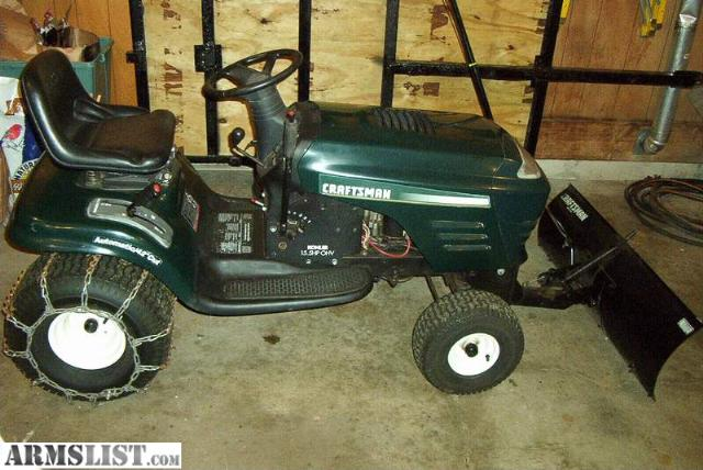 Craftsman Snow Plow : Armslist for sale trade craftsman lawn tractor w plow