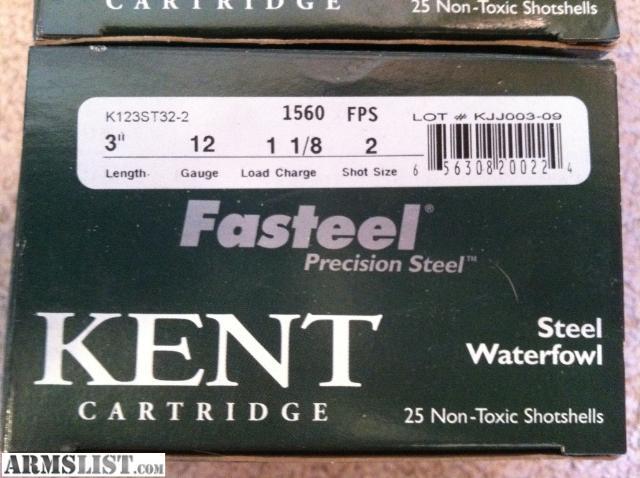 ARMSLIST - For Sale: 2 boxes - Kent Fasteel Waterfowl Shotgun ...