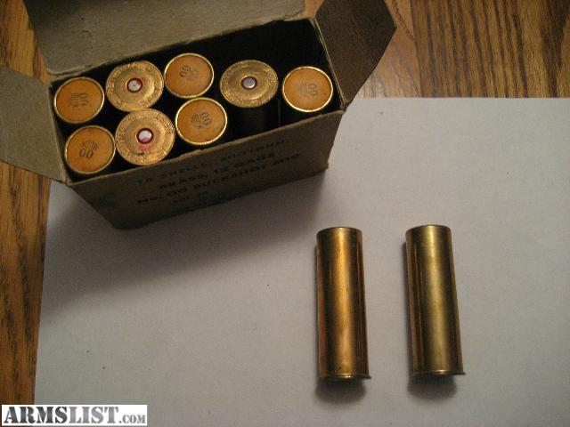 For sale box of vintage rem umc brass 12 gage no 00 buckshot m19 in