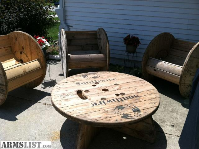 Armslist for sale rustic patio furniture cable spools for Outdoor tables made out of wooden wire spools