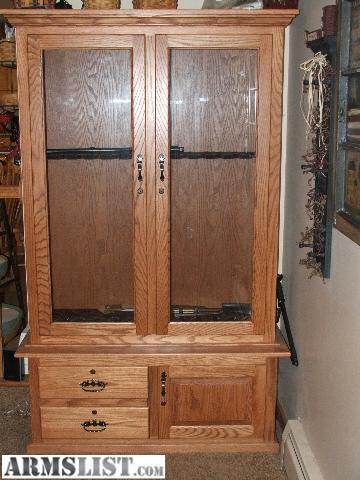 Armslist For Sale Amish Oak 12 Gun Cabinet