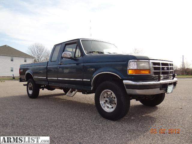 armslist for sale 1997 f 250 heavy duty extended cab 4x4 8 39 bed. Black Bedroom Furniture Sets. Home Design Ideas