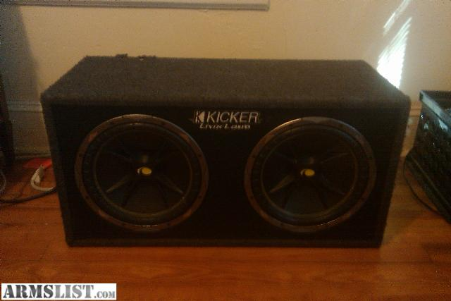2 kicker 12 inch subwoofers factory kicker box vs yard ...
