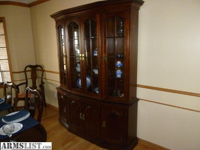 Looking To Sell Or Trade A Pennsylvania House Dining Set And China Cabinet.  They Are Both Made Out Of Dark Cherry. Willing The Separate If Need Be.
