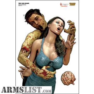 SET OF 12 TARGETS. Full color Frans Zombie Poster Targets. Designed ...