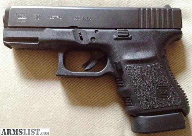ARMSLIST - For Trade: Glock 30sf-45 cal for