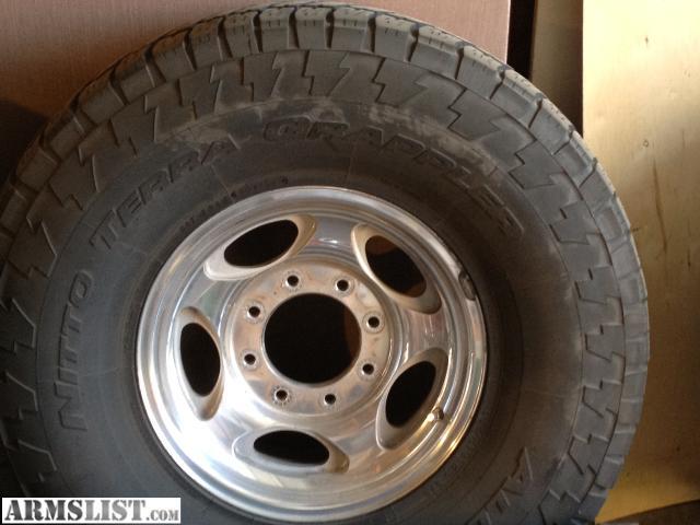 armslist for sale ford 8 lug polished wheels and tires. Black Bedroom Furniture Sets. Home Design Ideas