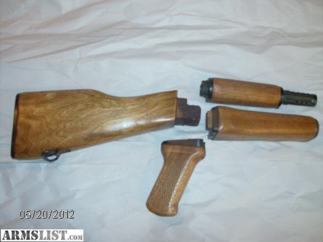 Armslist for sale ak 47 wood furniture stock grip upper lower forehand matching color Ak 47 wooden furniture