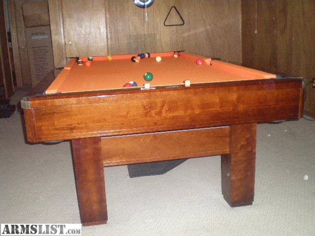 Armslist for sale trade brunswick 3 piece slate table for 1 piece slate pool table