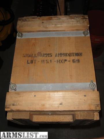 ARMSLIST - For Sale: Greek HXP Surplus Ammo Crate....Empty