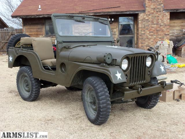 armslist for sale 1954 m38a1 willys army jeep. Black Bedroom Furniture Sets. Home Design Ideas