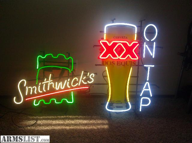 Man Cave Signs For Sale : Armslist for sale trade neon beer signs great man