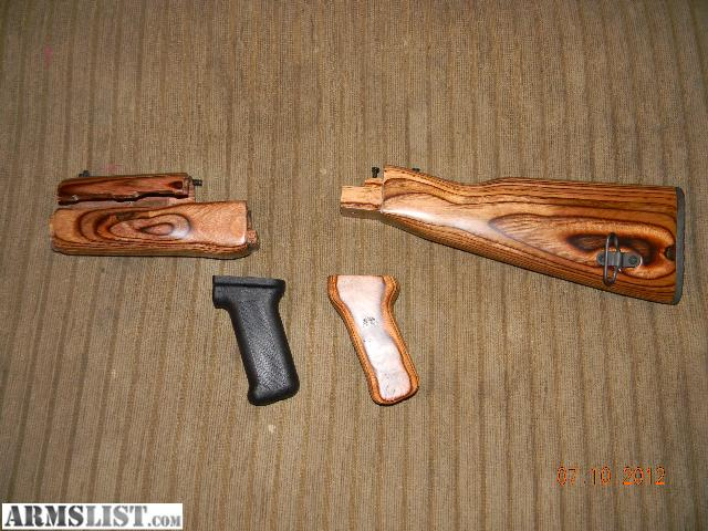 Armslist for sale ak 47 upgraded wood furniture set by tapco Ak 47 wooden furniture