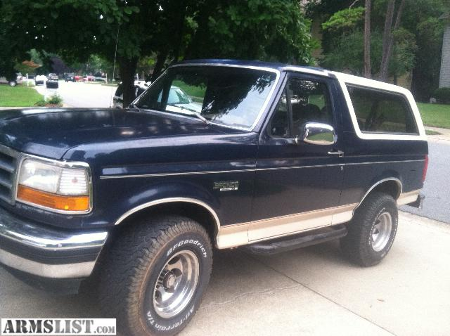 Armslist For Sale Trade 1993 Ford Bronco