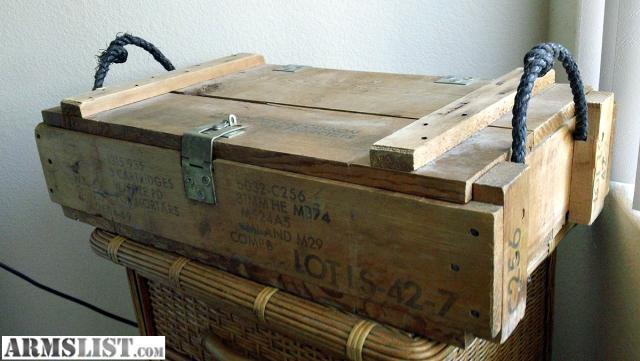 ARMSLIST - For Sale: *U.S. Army wood ammo box-Vietnam War era
