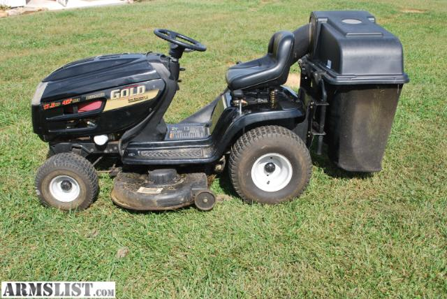 Mtd Gold Lawn Tractor : Armslist for sale mtd gold riding mower automatic