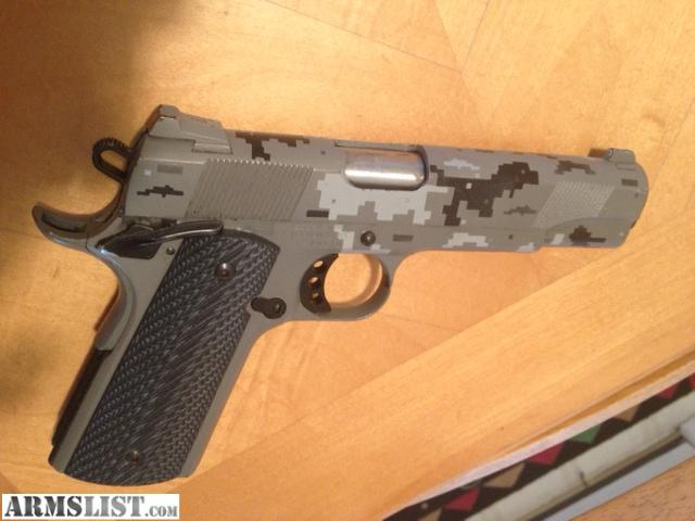 "Kimber Covert Custom II .45 ACP Pistol, 5"" Barrel, Digital Camo ..."
