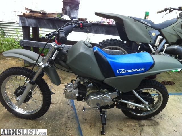 armslist for sale terminator 110cc dirt bike honda clone. Black Bedroom Furniture Sets. Home Design Ideas