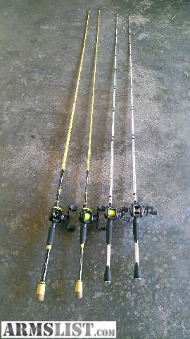 Armslist for sale moving sale 4 brand new fishing for Fishing rods and reels for sale