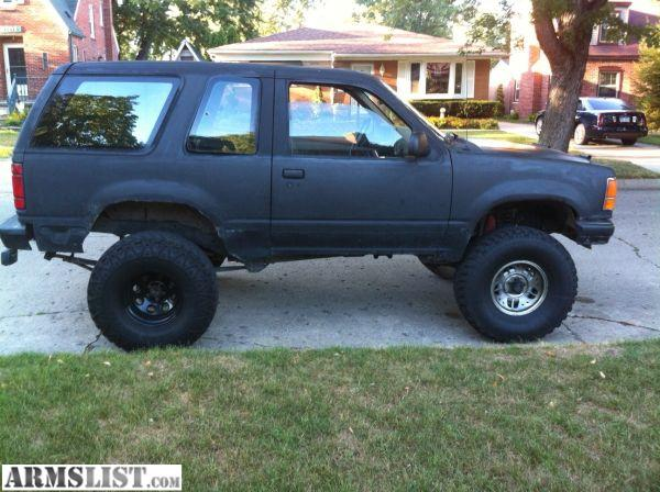 armslist for sale trade 1991 ford explorer 6 inch lift 35s 5 speed. Black Bedroom Furniture Sets. Home Design Ideas