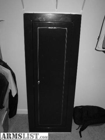Gun Safe Security Cabinet 14 Gun 55 X 16 X 21. Steel Construction And  Interior Shelf. Keyed Lock