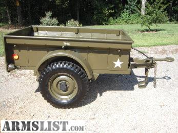 Armslist For Sale Trade Military 1 4 Ton Trailer 1946