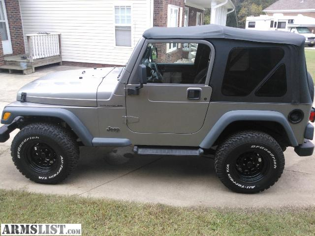 armslist for sale 2000 jeep wrangler. Black Bedroom Furniture Sets. Home Design Ideas