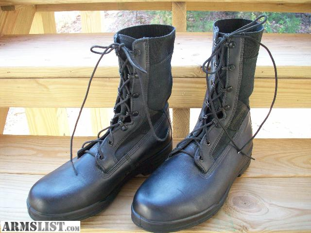 ARMSLIST - For Sale: Wolverine Black Military Combat Boots