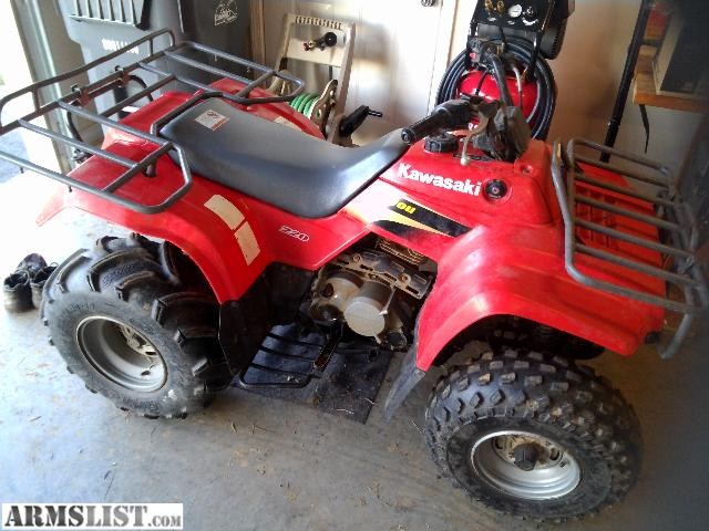 ARMSLIST - For Sale/Trade: Kawasaki Bayou 220 atv for guns