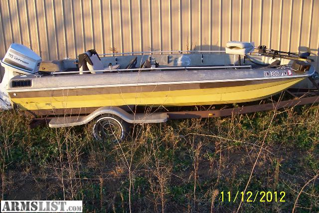 Armslist for sale 1977 bassboat for Monark fishing boats