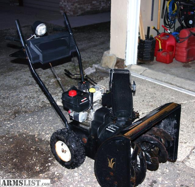 gold yard machine snowblower