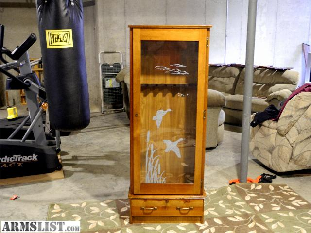 Armslist For Saletrade Solid Pine6 Firearmlocking Gun Cabinet