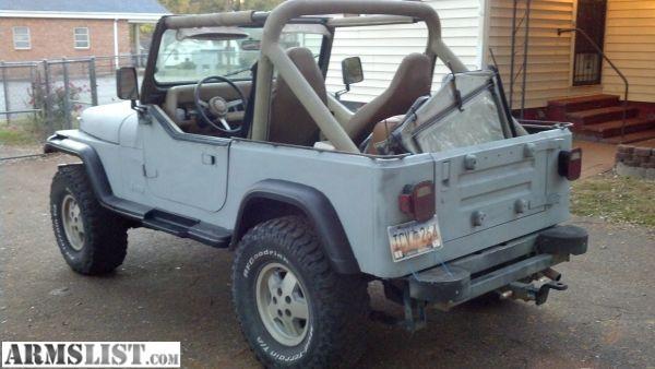 armslist for sale trade 1989 jeep wrangler 4x4 4 2 6cyl. Black Bedroom Furniture Sets. Home Design Ideas