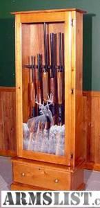 armslist for sale trade ponderosa pine wood 6 gun cabinet